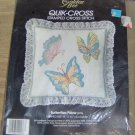 BEAUTIFUL BUTTERFLY PILLOW KIT FROM GOLDEN BEE-LACE EDG