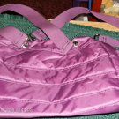 QUILTED BURGUNDY SLING PURSE, ROOMY AND NICE