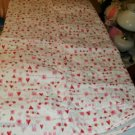 PINK HEART COVERLET-LOVE & KISSES- SO CUTE-NEW