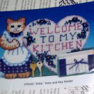 KITTY AND HEART WELCOME TO MY KITCHEN NOTE & KEY HOLDER