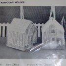 MARY MAXIM POTPOURRI HOUSES, YELLOW & GREEN, CUTE