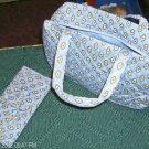 BLUE FLORAL MAKEUP BAG SET - NEW - VERY PRETTY
