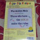 CUTE GOLDEN RULE SAMPLER - NEW IN PACKAGE