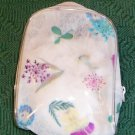 Floral Vinyl Cosmetic Case, Very Pretty, New