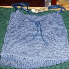 CROCHETED BAG, NWT,CALFORNIA EDITIONS, WITH DRAWSTRING