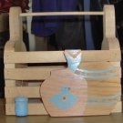 WOODEN BOX GREAT FOR REMOTES, GUIDES, MAIL,ANYTHING