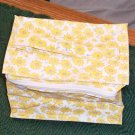 Yellow Floral Cosmetic Bag, Cute, New, Bright & Cheery