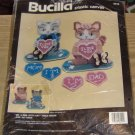 BUCILLA MR & MRS KITTY CAT TABLE DECOR - FAMILY -CUTE