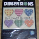 HOME IS WHERE THE HEART IS - PRETTY HEARTS - DIMENSIONS