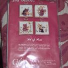 SET OF 4 CUTE BABY BEAR PICTURES WITH FRAMES -MINI