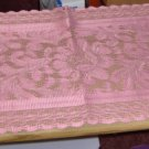 PINK CROCHET TABLERUNNER-NEW- FLOWERS-TAKE A PEEK