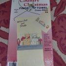 COUNTRY CHRISTMAS BEAR FINGERTIP TOWEL, NIP
