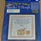 NEEDLES N HOOPS NEXT MEALS COOK KITCHEN SAMPLER. CUTE