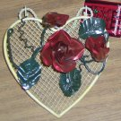 SWEET ROSE DOOR HANGER OR WALL DECO - NWT