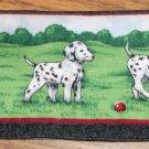 Dalmatian Puppy Fabric CheckBook Cover- Cute- Trees