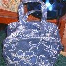 Glittery Blue Floral Bag, NWT, Shiny & Sparkly