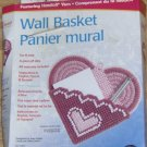 PRETTY PINK HEART WALL BASKET FROM UNIE - REALLY SWEET