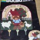 WELCOME FRIENDS BEAR MAIL/ KEYHOLDER - CUTE- BUCILLA