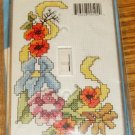 FLOWER & RIBBON SWITCHPLATE COVER NIP BRIGHT & CHEERY