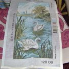 SWANS ON THE RIVER - BEAUTIFUL NEEDLEPOINT CANVAS