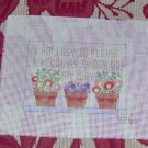 ADORABLE NEEDLEPOINT CANVAS - FLOWERPOTS, EASY TO PLEAS