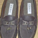 PRETTY BROWN TASSELED LOAFERS -  FROM ESNY