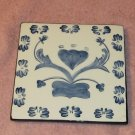 Blue Trivet With Heart Design, Very Pretty