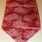 Pink Floral Runner w/ Tassels, Polyester,Beautiful