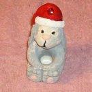 Puppy Mini Taper Holder,Christmas Hat,Cute Decoration