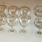 Set of 6 Small Stemmed Glasses Plus 2, HolidayTime,Nice