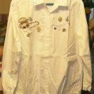 Bobbie Brooks White Shirt W/ Appliques,Glittery & Cute
