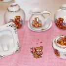 Bear Gift Set,Jar,Pitcher w Saucer,Picture Frame,Sweet