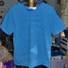 Blue and White Striped Tee Top, Cute & Comfortable
