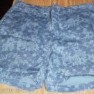 Faded Glory Blue Floral Denim Shorts, Summery,Cute