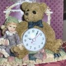 Victorian Bear Clock, Bear & Cute Little Boy,Adorable