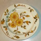 """Small Plate with Yellow Floral Design,7 1/2"""" Diameter"""