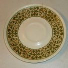 "Small Plate with Green & Yellow Edge, 6 1/4"" Diameter"