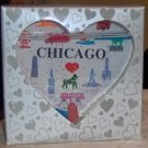 PRETTY LITTLE HEART CHICAGO  PAPERWEIGHT