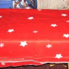 Star Decorated Throw,Fleece, Pretty Red ,Comfy,Warm,New