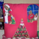 Chirstmas Pillow With Pretty Appliques, Handmade,Pretty