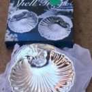 Silverplated Shell Trinket Dishes,Very Pretty,2 In Box