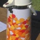 Pump Pot, Vintage,Orange & White, Works,Remember When?