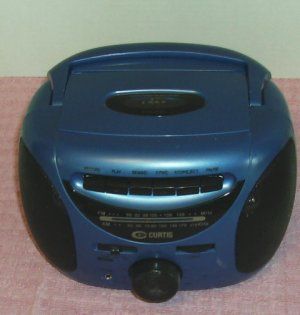 AM/FM Cassette Player Recorder Radio From Curtis,Blue