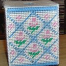 Handmade Tissue Box Cover with Roses & Diamond Design