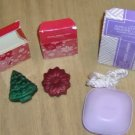 Avon Guest Soaps,Tree,Candycane,Wreath,Angel,Soap Rope