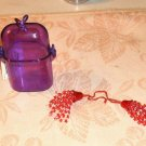 Small Purple Container,Use For Hair Ties,Jewelry,More