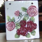 Cute Trinket Box With Burgundy Flowers - Cute Accent