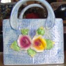 Cute Floral Purse Basket,Great Decor or Pencils, Pretty