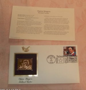 Gold Replica Stamp &quot;Opera Singers-Richard Tucker&quot;