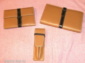 3-Pc Brown Wallet,Photo Ablum/CC Case,Pen Holder,Pretty
